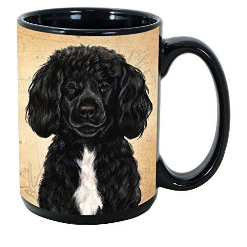 Imprints Plus Dog Breeds (E-P) Portuguese Water Dog Black 15-oz Coffee Mug Bundle with Non-Negotiable K-Nine Cash (portuguese water dog Black132)