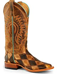 Horse Power Mens Patchwork Western Boot Square Toe - Hp1053