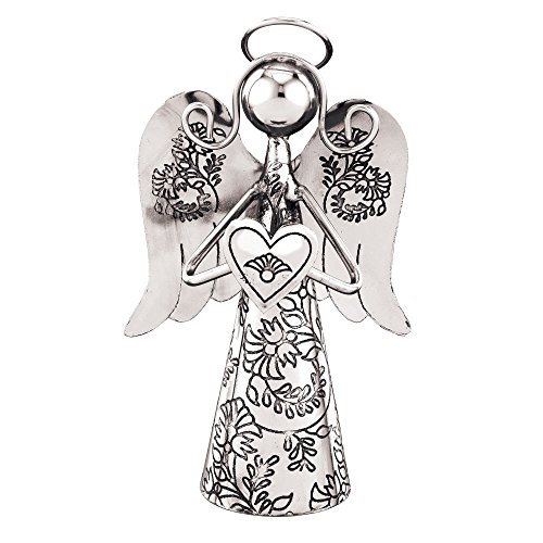 Regal Art & Gift Heart Outdoor Angel Bell, 4