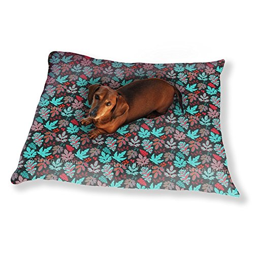 Baroque Ice (Leaf Baroque In Fire And Ice Dog Pillow Luxury Dog / Cat Pet Bed)