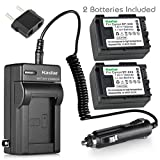 Kastar BP808 Battery (2-Pack) and Charger Kit for Canon BP-807, BP-808, BP-809 and Canon HFM400 HF100 M300 S100 S200 FS36 FS37 HF200 HFS11 HF100 HF20 HG21 FS406 Cameras