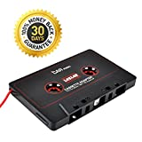 Gezan(TM) 3.5mm Car Audio Tape Cassette Adapter - For iPhone, iPad iPod MP3 Player CD Radio nano, 3 Feet Long Cable