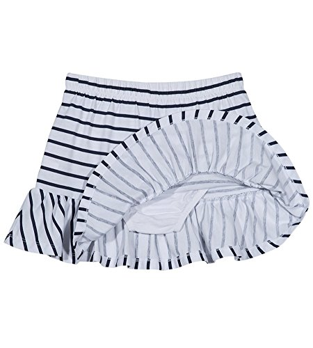 Nautica Girls' Toddler Pull on Fashion Skort, White Stripes -