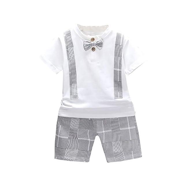 Kinder Jungen Kleidung Kurzarm T shirt Top Kurze Hose Sommer