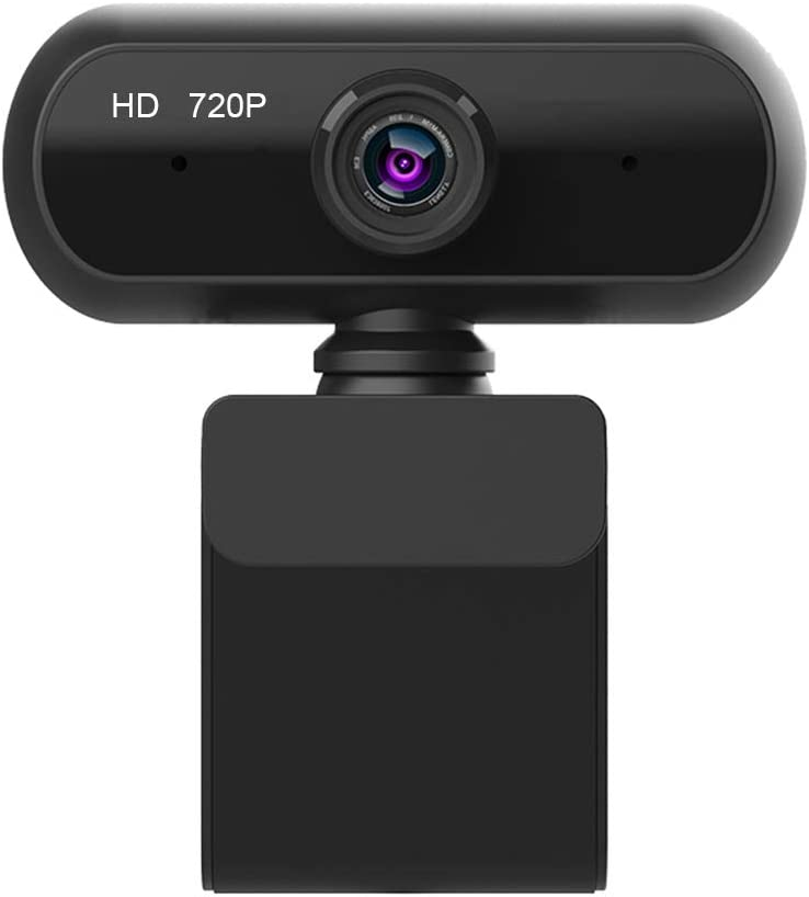 Fesjoy Full HD 720P Wide Angle USB Webcam USB2.0 Drive-Free With Mic Web Cam Laptop Online Teching Conference Live Streaming Video Calling Web Cameras Anti Peeping Webcame