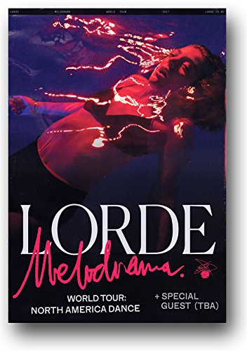 - Lorde Poster - 11 x 17 inches Band Singer Concert Promo 2018 Melodrama Tour