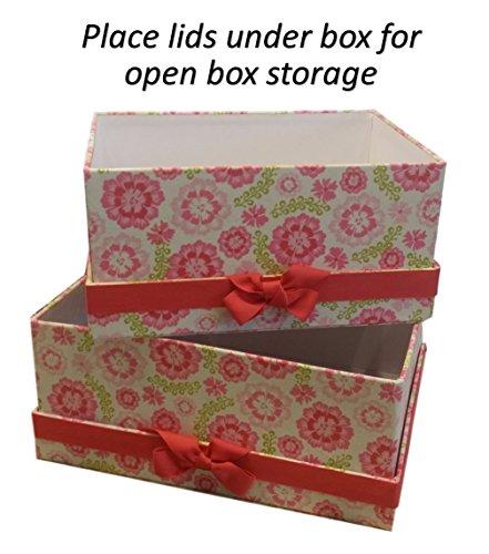 Amazon Small Decorative Boxes: Decorative Fabric Storage Boxes Closet Shelf Craft