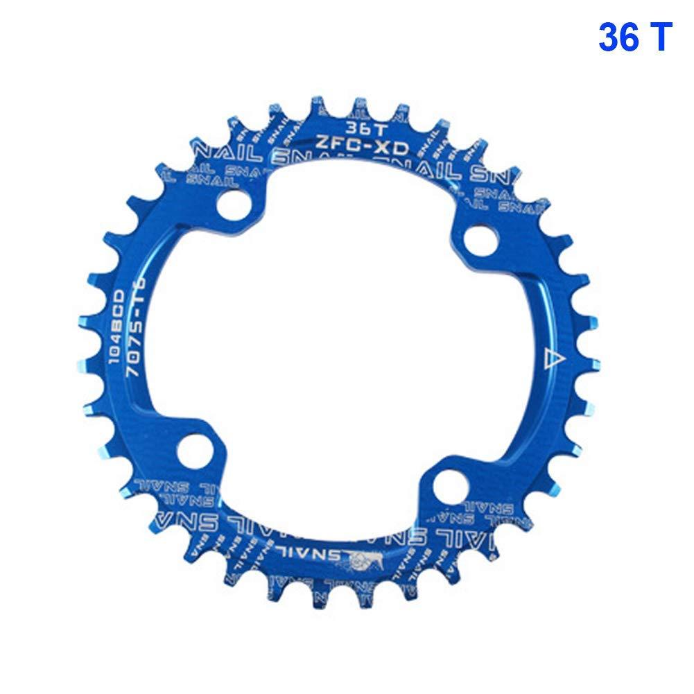 yangGradel Estrecho Ancho Cadena Bicicleta de Monta/ña 104BCD 32T 34T 36T 38T 40T Pedalier Tooth Placa Partes