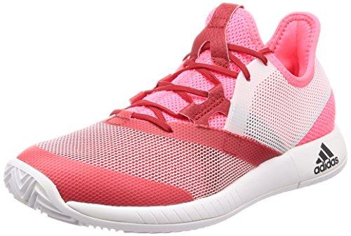 adidas Damen Adizero Defiant Bounce W Tennisschuhe, Weiß, 43.3 EU Rot (Rojo 000)