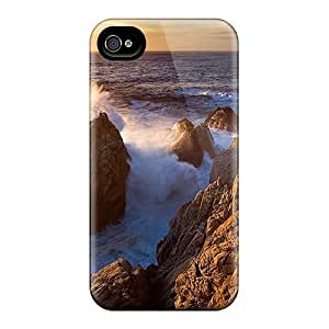 Premium Protection Sunset At Point Lobos California Case Cover For Iphone 4/4s- Retail Packaging