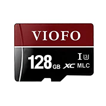 VIOFO - Tarjeta SD de 128 GB con Adaptador para grabación de vídeo 4K Ultra HD