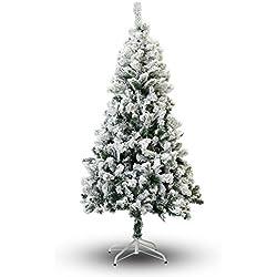 Perfect Holiday Christmas Tree, 6-Feet, Flocked Snow