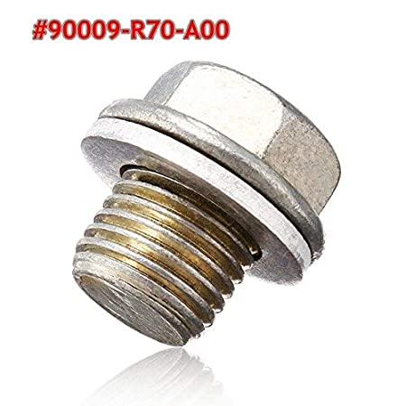 BAGUIO STORE M141.25 Magnetic Engine Oil Pan Bolt with Washer Drain Magnetic Oil Drain Plug Nut for Honda for Acura Accord #90009-R70-A00