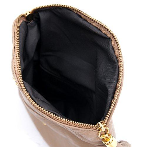 21 Sacchetti 3 Bolsos Porchette Dalla Pelle formel Cuero Fashion formel By Al Minibag Hombro Moda Zarolo Taupe Zarolo Cm Spalla 2062 Di 17 Mod xt0PXdqqw
