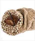 Giraffe Cuddle Cup Bed for Dogs by Susan Lanci by Susan Lanci Designs