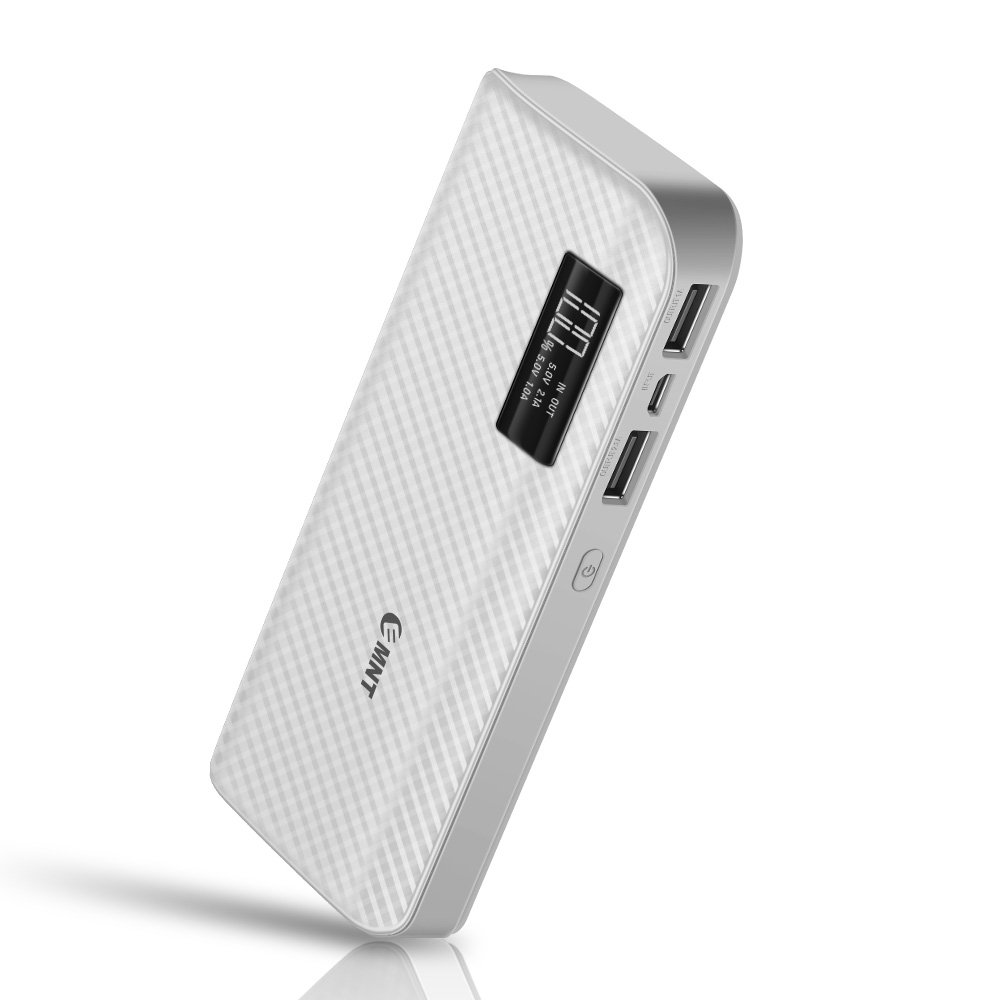Portable Charger,15000mAh Power Bank EMNT Quick Charge Compact High Capacity External Battery Pack for Smartphones,Iphone X Iphone 8,Ipad,Samsung Galaxy S8 S7,Nintendo Switch,Tablets and More-White