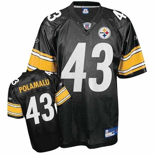 Reebok Pittsburgh Steelers Troy Polamalu Boys Replica Jersey Kids 4 Small ()