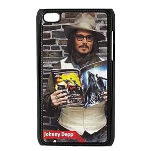 Custom Custom Johnny Depp Hard Back Cover Case for ipod 4 OC-1310