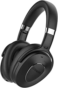 COWIN SE8 Active Noise Cancelling Headphones Bluetooth Headphones Wireless Headphones Over Ear with Mic, Comfortable Protein Earpads, 30 Hours Playtime for Travel/Work, Black