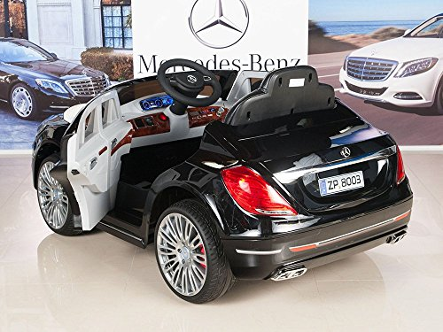 amazoncom mercedes benz s600 12v kids ride on battery powered wheels car rc remote black toys games