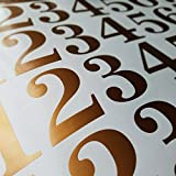 Classic Style Die Cut Vinyl Numbers (3 inch, Metallic Copper)
