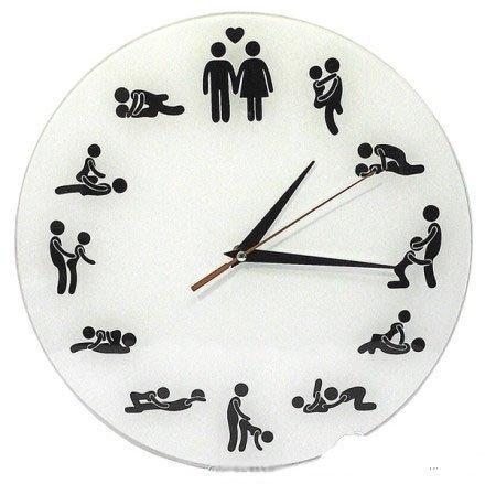 Sex' O Clock Sex Positions Wall Clock