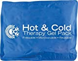 EVA Medical Hot & Cold Reusable Gel Pack Heating Pad for Pain Relief (Lab Tested & Measured)
