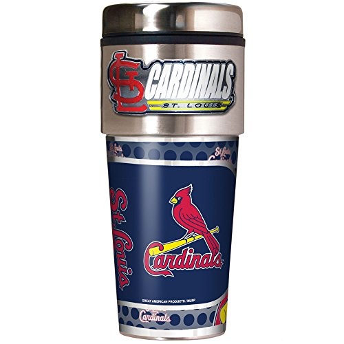 (MLB St. Louis Cardinals Metallic Travel Tumbler,  16-Ounce)
