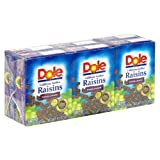 Dole Seedless Raisins, Pack of 6 1.5-Ounce Boxes (Pack of 24)