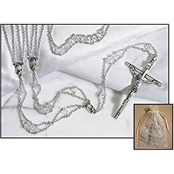 Austrian Crystal Ladder Lasso Rosary Wedding Rosary 42 L, 4 Lenght Crucifix- Gift Boxed
