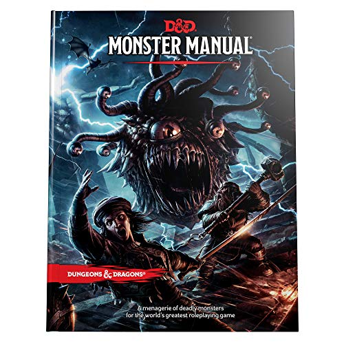 Book cover from Dungeons & Dragons Monster Manual (Core Rulebook, D&D Roleplaying Game) by Wizards RPG Team