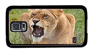 Hipster indestructible Samsung Galaxy S5 Cases angry lioness PC Black for Samsung S5