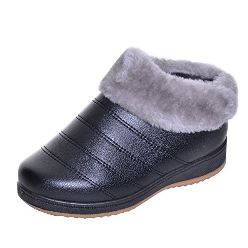 Womens Warm Lined Boots (Women Winter Ankle Boots Warm Fur Lined Waterproof Snow Boots)