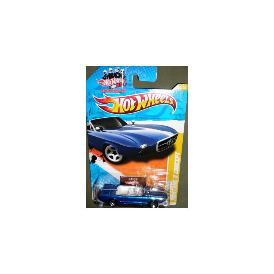 2011 HOT WHEELS NEW MODELS 14/50 BLUE CONVERTIBLE 63 FORD MUSTANG II CONCEPT (HOT WHEELS FOR REAL CARD) 14/244
