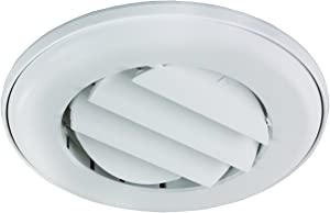 "JR Products ACG25DPW-A Polar White Adjustable Ceiling Vent with 0.25"" Collar"