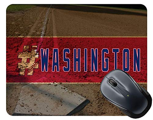 (BRGiftShop Hashtag Washington #Washington Baseball Team Square Mouse Pad )