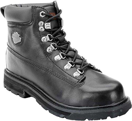 Harley-Davidson Men's Drive Motorcycle Steel Toe Black Boots -
