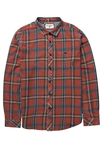 2016 Billabong Vantage Long Sleeve Flannel Shirt RUST Z1SH09