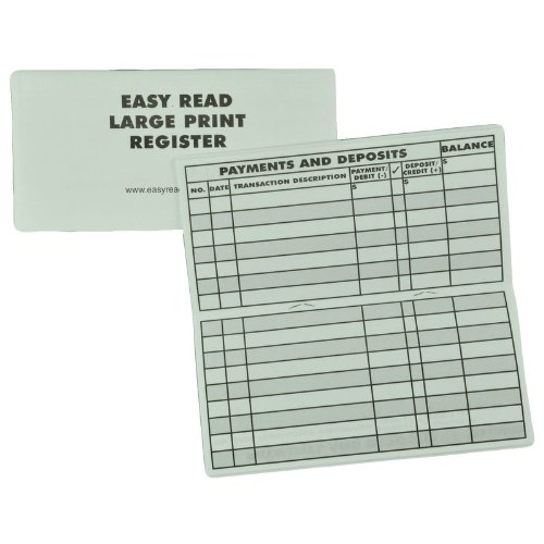 Amazon.Com: 5 Pack Large Print Low Vision Checkbook Transaction