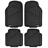 Motor Trend FlexTough Standard - 4pc Set Heavy Duty Rubber Floor Mats for Car SUV Van & Truck (Black) (MT-774-BK_AMJAN)