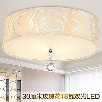 Óptica Dual LED LED redonda dormitorio Lámparas de techo ...