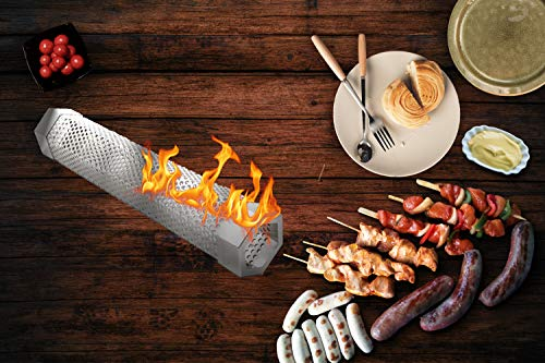 Benbo 12'' Pellet Smoker Tube With Cleaning Brush for Grill Smoker - Cold & Hot smoking by Benbo (Image #4)