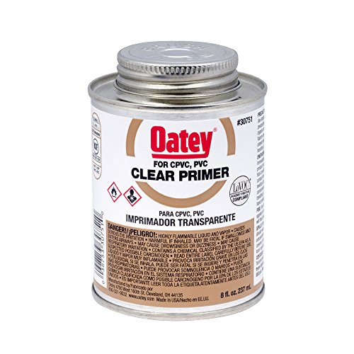 Clear Pvc Cement (Oatey 30751 NSF Listed Primer, Clear, 8-Ounce)