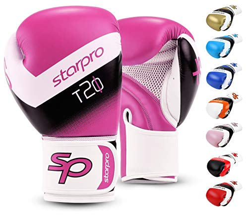 Starpro | T20 Boxing Gloves | Strong Punches & Fast KOs | Many Colors | Kickboxing Gloves, Boxing Training Gloves, 16 oz…