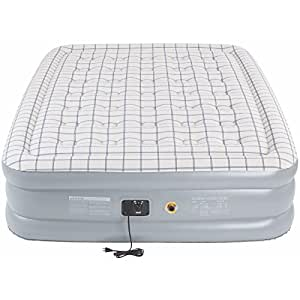 COLEMAN Premium Quickbed Double High PVC Queen Airbed Mattress w/ Built-In Pump
