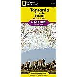 Tanzania, Rwanda, Burundi Adventure Map
