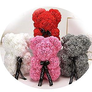 Miao Express 25cm Cartoon Bear Artificial Flowers PE Rose Flower Artificial for Women Bear 11