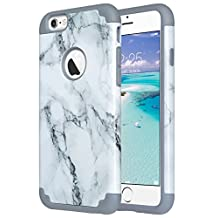 iPhone 6S Case,iPhone 6 Case, ULAK Slim Dual Layer Protective Case Fit for Apple iPhone 6 (2014) / 6S 4.7 inch (2015) Hybrid Hard Back Cover and Soft Silicone,Artistic-marble pattern