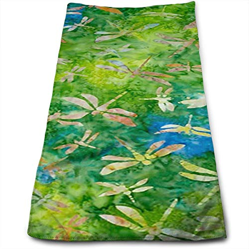 FidgetToy Indonesian Batik Dragonfly Green Cooling Towel for Sports-As Cooling Scarf Headband Wristband Bandana-Stay Cool for Yoga Travel Climb Golf Football Tennis & Outdoor Sports