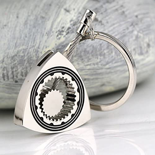 maycom Polished Silver Auto Part Triangle Engine Rotary Rotor Keyring Key Ring Chain Keychain Keyfob 86112
